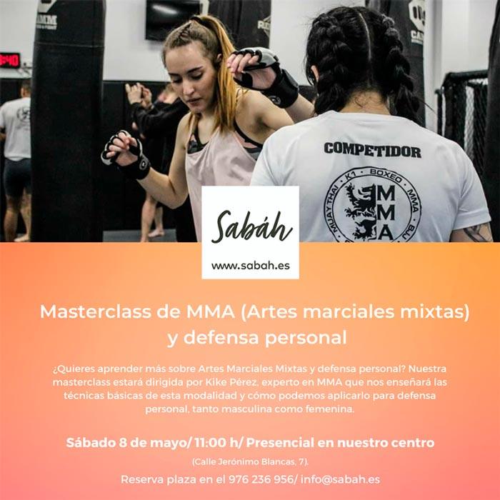 masterclass de Artes Marciales Mixtas y defensa personal